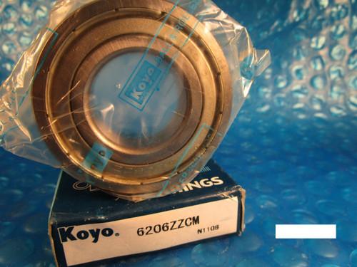 KOYO 6206 ZZ CM, 2Z ,2ZR (=2 Timken 205KDD, SKF, NSK, FAG, NTN)