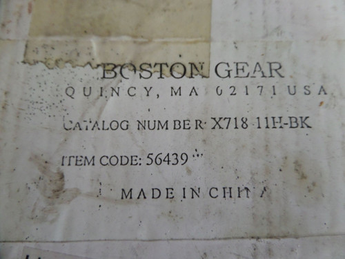 Boston Gear, X718-11H-BK, Horizontal Base Mount