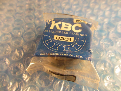 KBC, FAG,HANWHA 6301ZZ, 6301 ZZ, Deep Groove Bearing(=SKF NSK, 2Z Fafnir 301KDD)