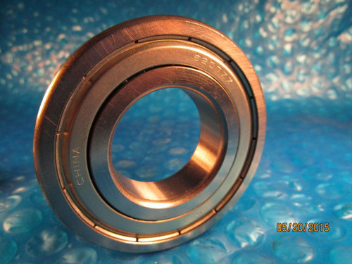 General Bearing 6207 ZZ E, 6207 2Z, Single Row Ball Bearing