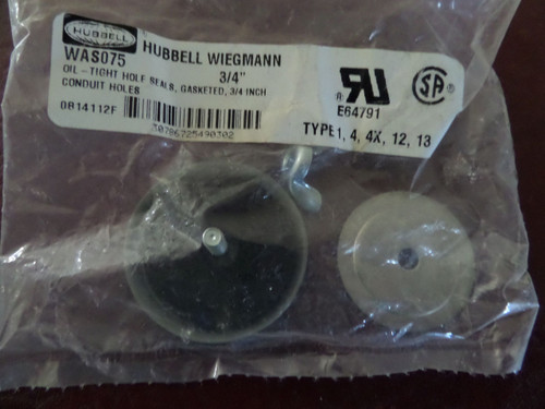 Hubbell, WAS075, Oil Tight Hole Seal, Conduit Holes