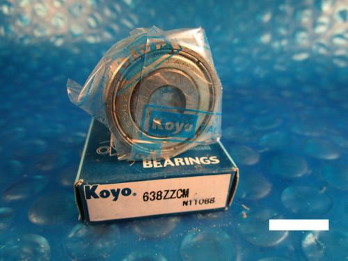 KOYO 638 ZZ Single Row Radial Bearing (see SKF 2Z, NTN, FAG 2RZ , NSK )