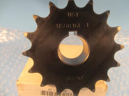 "UST, US Tsubaki Sprocket H50B16F-1 HT, 1L162, 50 Chain,16 Teeth 1"" Bore"