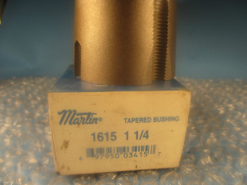 "Martin 1615 Series Bushing; 1 1/4 in Bore, Tapered, 3/8"" socket screw"