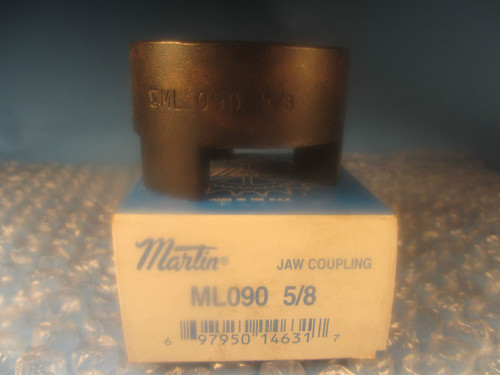 "Martin ML 090 5/8, ML090, Jaw Type Coupling Hub 5/8"" ID"