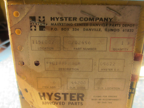 Hyster, Diaphagm 0202496,