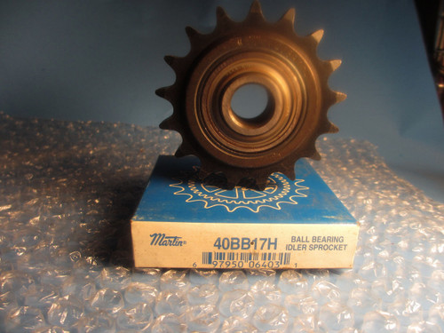 Martin Ball Bearing Idler Sprocket 40BB17H 5/8 bore