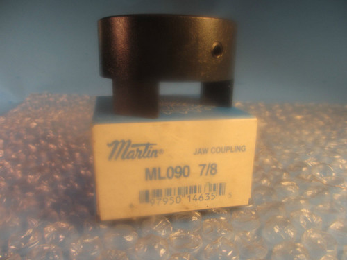 "Martin ML 090 7/8, ML090, Jaw Type Coupling Hub 7/8"" ID"