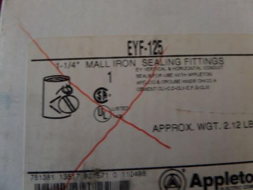 Appleton, EYF-125, Sealing Fitting