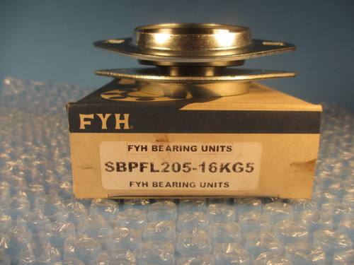 """FYH Bearing SBPFL205-16, 16KG5, 1"""" Pressed Steel Oval Two Bolt Flanged Mounted"""