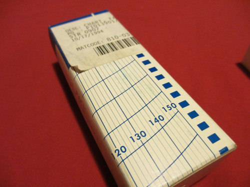 Graphic Controls, GD204552, Chart, Fanfold Strip, Fits Chessell, Recording paper