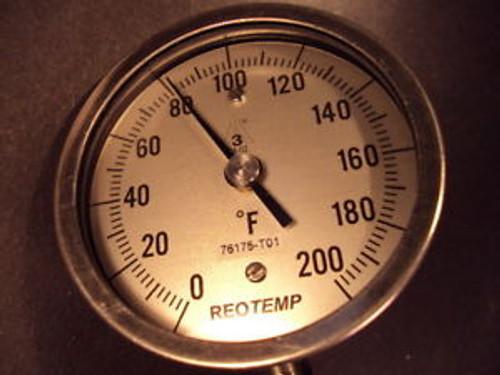 Reotemp, XR025LF43 PY, Bimetal Dial Thermometer, PCPC