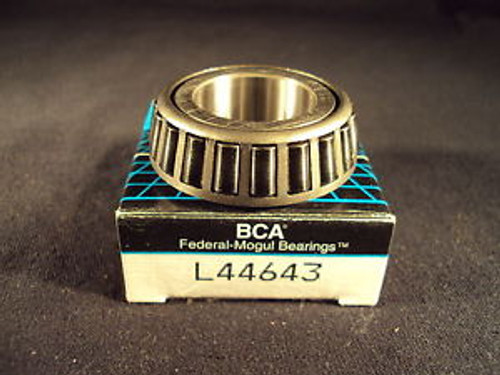 BCA L44643 Tapered Roller Bearing Single Cone