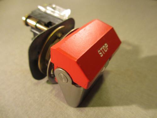 AB, Allen Bradley, 800H, WK61A, Heavy Duty Flip Lever, Push Stop Button, Red