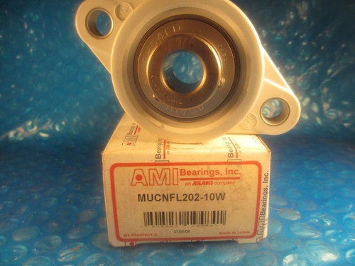 AMI, ASAHI MUCNFL 202-10W, MUCNFL202 Thermoplastic 2-Bolt Flange Set Screw