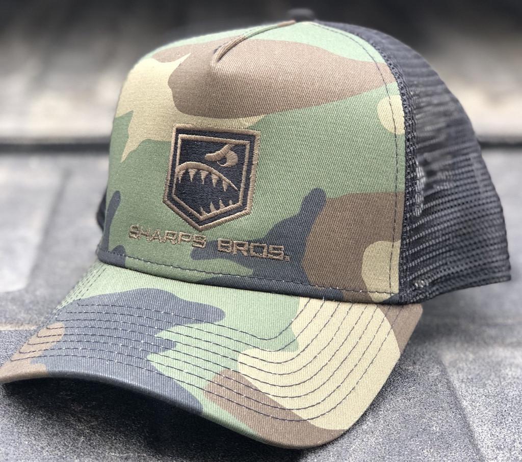 Hat (Camo/Black) - Trucker