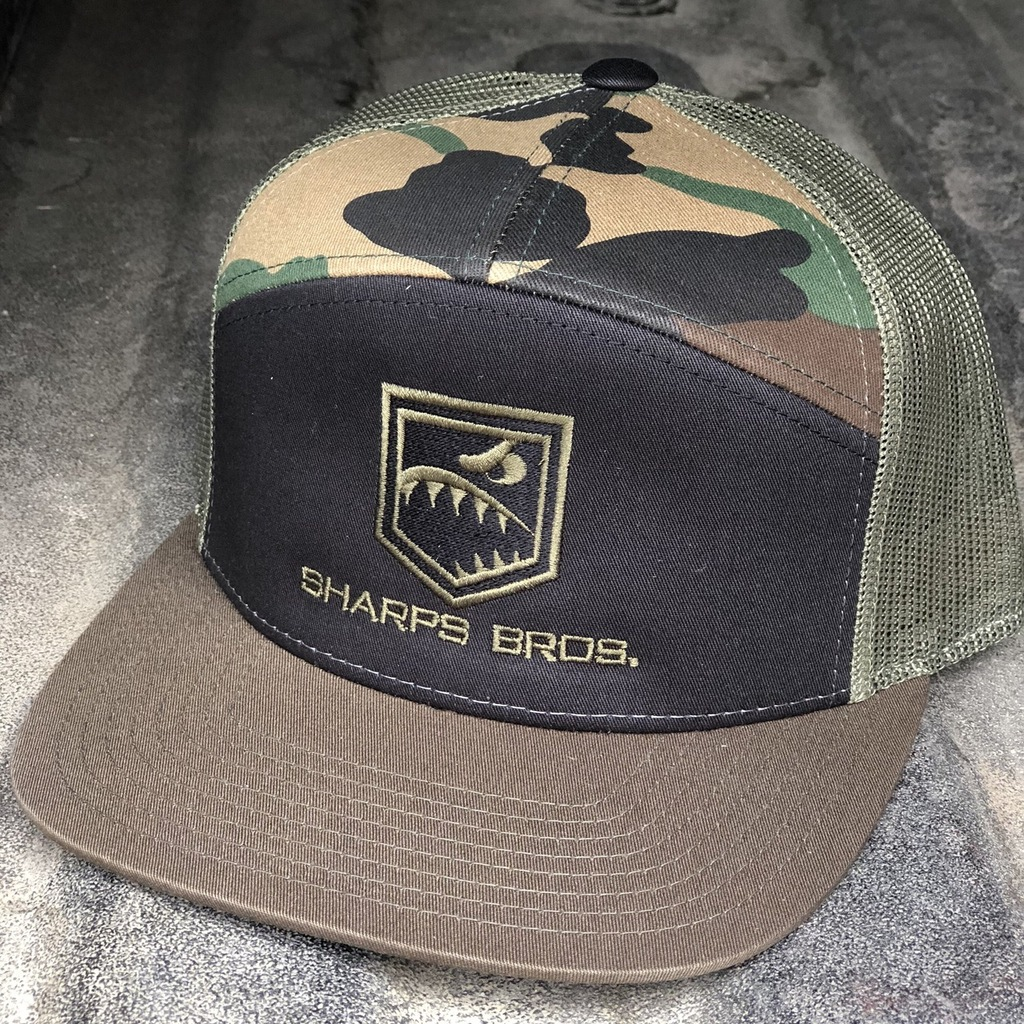 Hat (Black/Green/Camo) - Flat Bill
