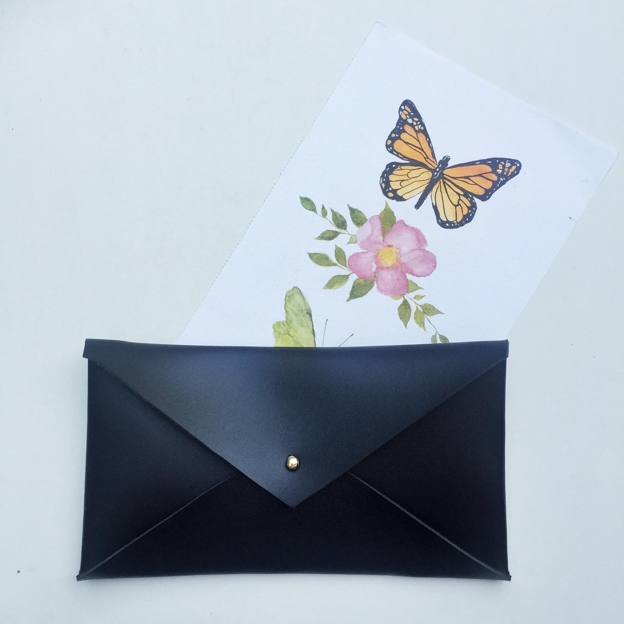 luxuriant in design new lifestyle crazy price Envelope Clutch Black