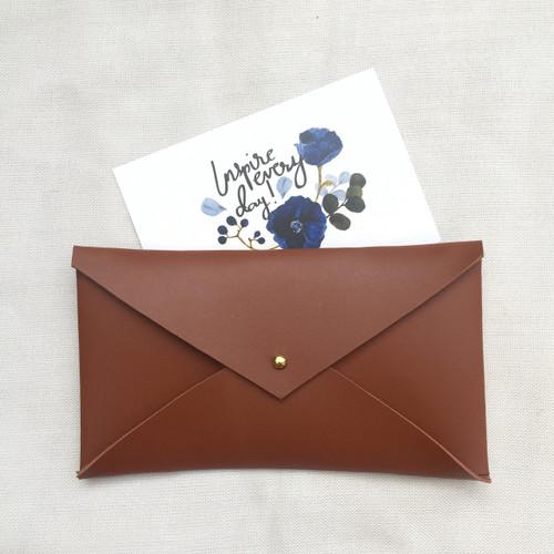 Envelope Clutch Camel
