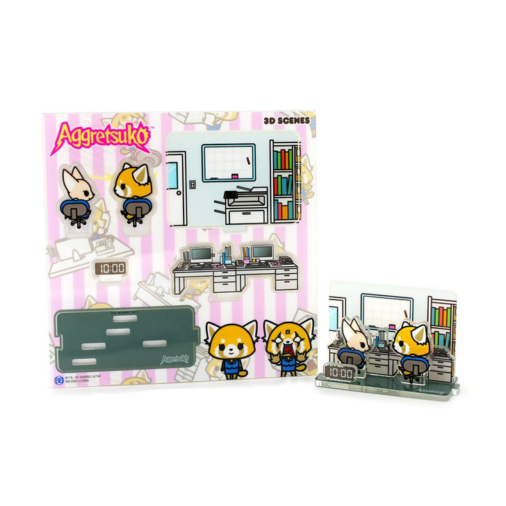 """Aggretsuko """"A Day in the Life"""" 3D Scenes Series1 - 10:00"""