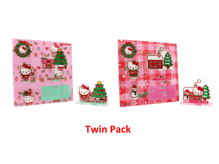 Hello Kitty Holiday 3D Scenes - Twin Pack