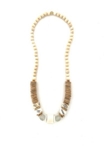 Long Classic Necklace - White/Nat/White
