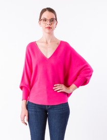 RYU V-Neck - Hot Pink