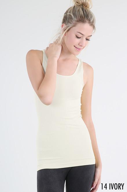 Wide Strap Cami - Off White