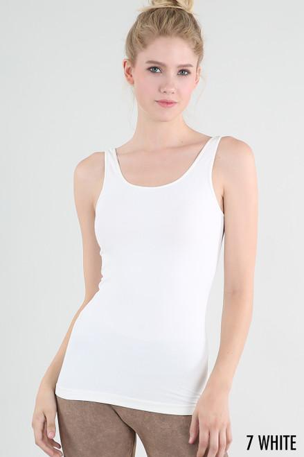Wide Strap Cami - White