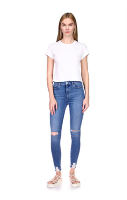 Farrow Skinny High Rise Ankle - Rip Tide Distressed