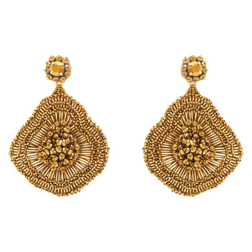 Emilia Flower Earring - Gold