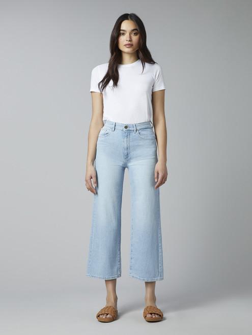 Hepburn Wide Leg High Rise  - Baby Blue