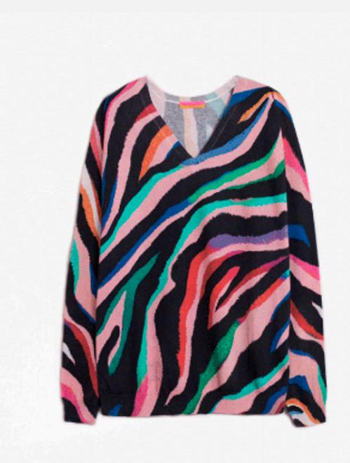 Elisa Pullover Knit - Groovy Print