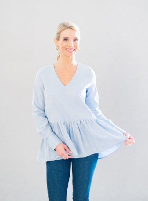 Tanner Tunic - Oxford Blue