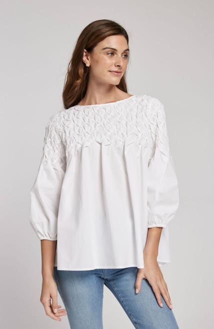 Victoria Text Cotton - White