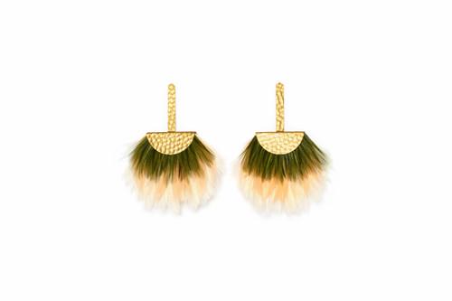Fan Drop Earring - Limelight