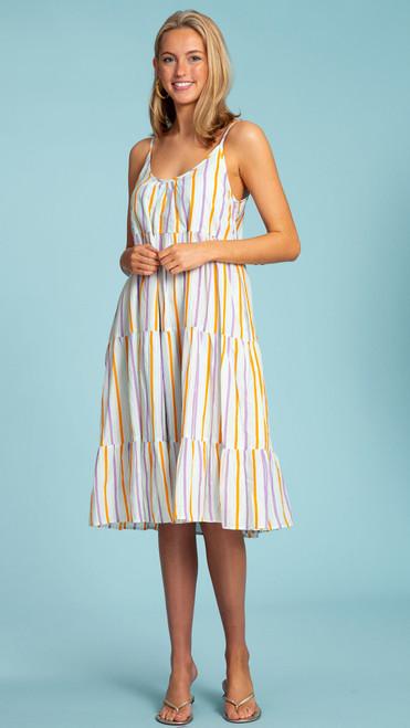 Emily Short Dress - Spring Stripe