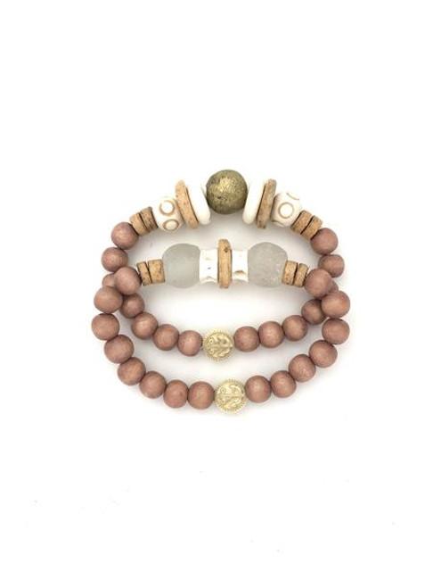 Bracelet Stack - Natural/White/SeaGlass