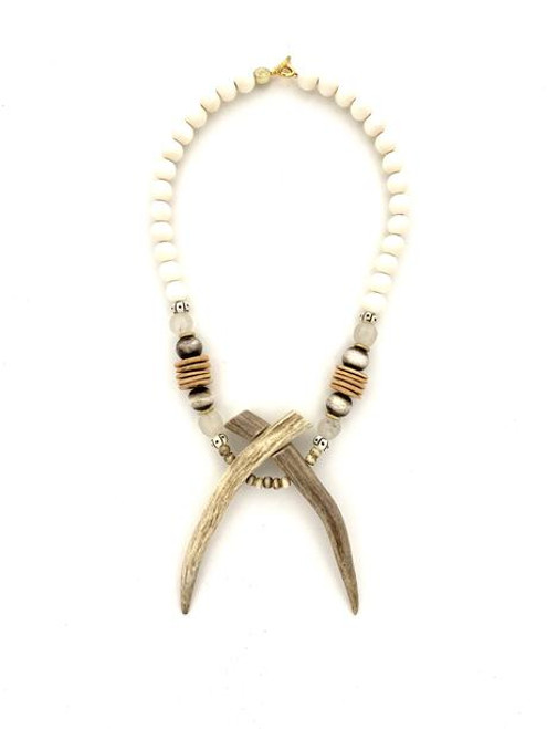 Unity Antler Necklace - White/Natural/Antler