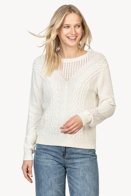 Mixed Stitch Sweater - Ivory