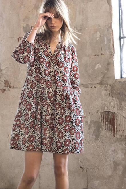 Button Down Dress - Henna