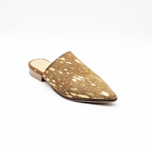 High Up Flat - Beige/Gold