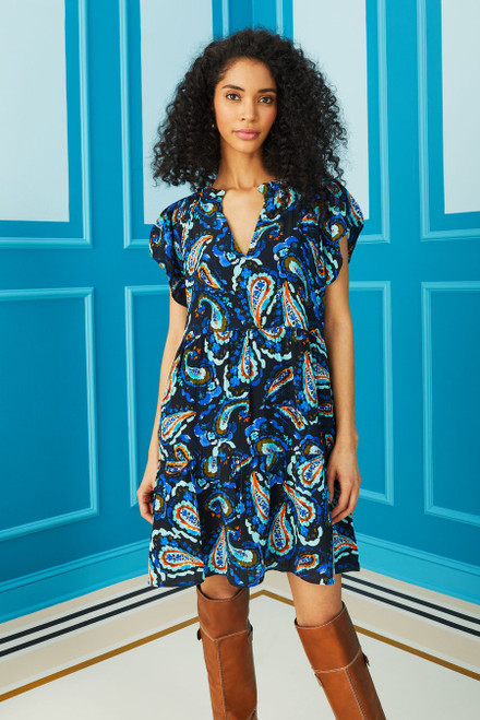 Frida Dress - Midnight Paisley