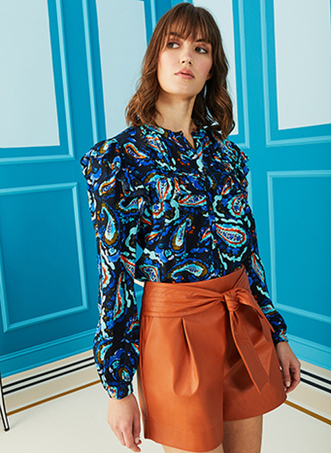 Darby Blouse - Midnight Paisley