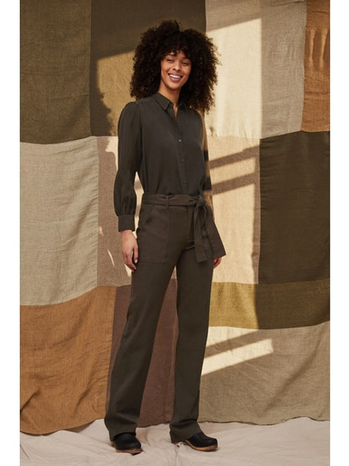 Young Belted Pant - Pine