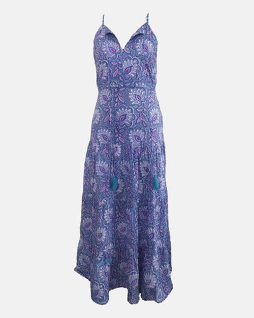 Anita Dress - Fan Floral Iris