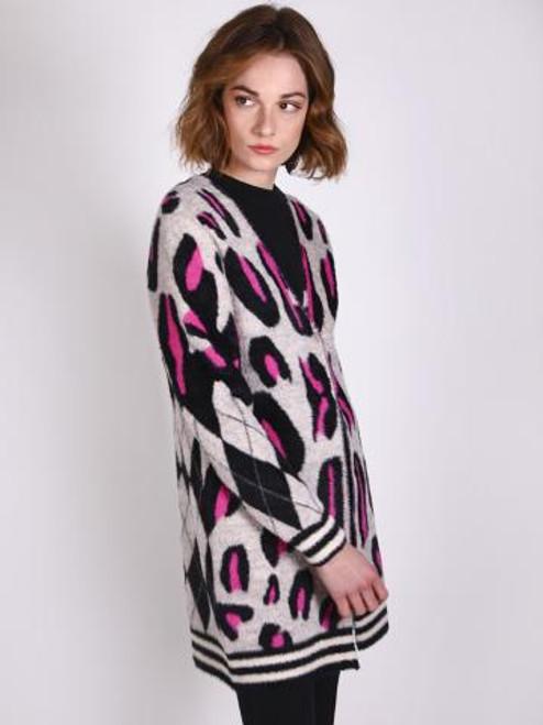 Leopard Cardigan - NV Brown BL Ecru