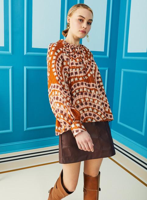 Jenna Top - Ginger Mosaic