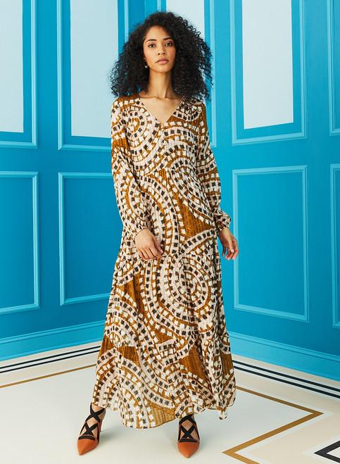 Luciana Maxi Dress - Tapenade Mosaic