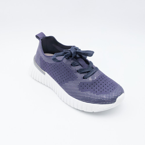 Lace Up Sneaker - Navy